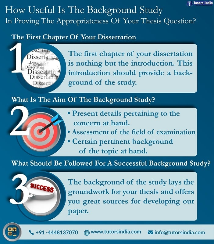 How Useful Is The Background Study In Proving The Appropriateness Of Your  Thesis Question? – Tutors India Blog