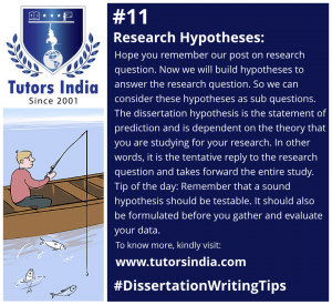 Day 11 Research hypotheses