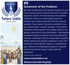 Day 9 Statement of the Problem